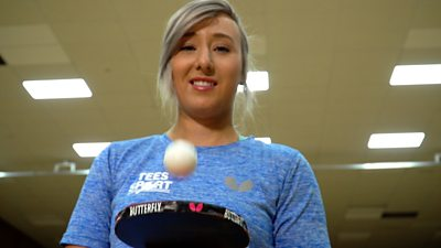 Welsh table tennis player Charlotte Carey prepares for the Olympic qualifying event