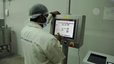 A pharmaceutical worker in Ghana