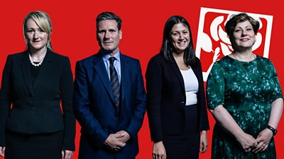 Four Labour leadership hopefuls