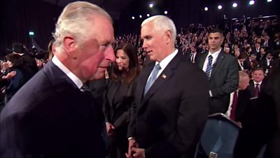 Prince Charles snubs US Vice President Mike Pence at an event in Jerusalem