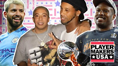 This is how you party with Aguero, Ronaldinho & Super Bowl champions