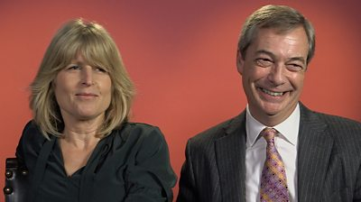 Brexit Party founder Nigel Farage and the PM's sister, Rachel Johnson, talk Brexit over dinner.