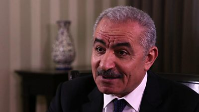 Palestinian Prime Minister Mohammad Shtayyeh speaks to the BBC