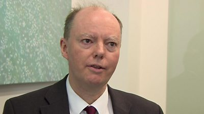 Prof Chris Whitty, chief medical officer for England