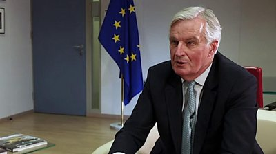 Michel Barnier giving an interview