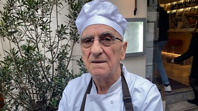 Filippo Falcone has cooked in the same London restaurant since 1958.