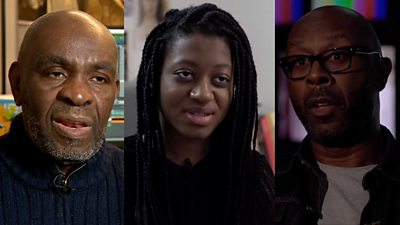 Three black British filmmakers: Menelik Shabazz, Ayo Akingbade and Kolton Lee (from left to right)