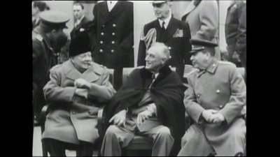 Newsreel footage of the Yalta summit from 1945