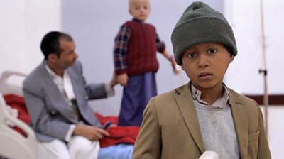 Children at a cancer hospital in Sanaa, Yemen