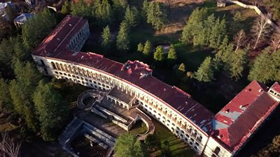 Georgia plans to revive Tskaltubo, an abandoned Soviet-era spa town, but it's an uncertain time for thousands of civil war refugees living among the decaying sanatoriums.