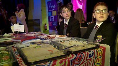 Children enjoying Arab cultural day in Belfast