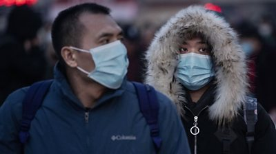 People wearing masks