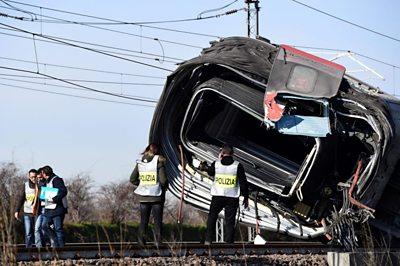 Police at scene of the crash