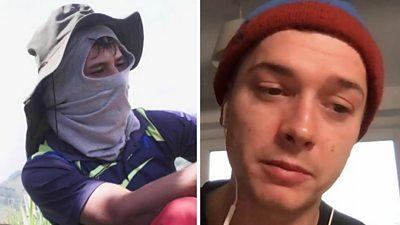 Composite image of a cocaine farmer and a cocaine user