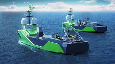 Artwork of Armada USVs