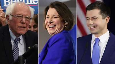Candidates claim victory and momentum, put a brave face on defeat or drop out of the race entirely.