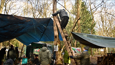Cubbington Wood protesters set up camp in October