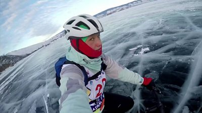 Racer on the ice