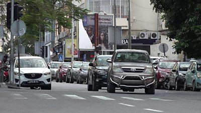 traffic in Luanda, Angola