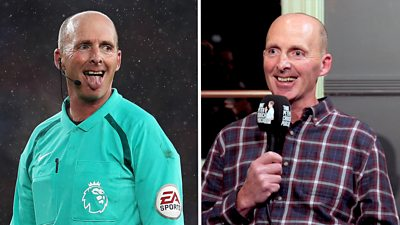 Mike Dean speaking on That Peter Crouch Podcast