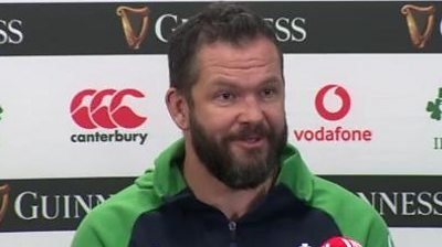 Andy Farrell will be hoping to guide Ireland to a victory over an England side that is captained by his son Owen