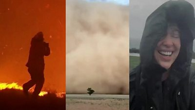 Fire, dust and rain in Australia