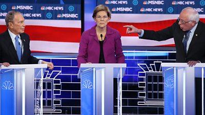 Democratic rivals attack Bloomberg in TV debate