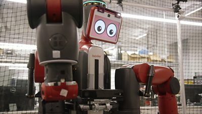 Boston University's Baxter robot who is learning how to make hot dogs