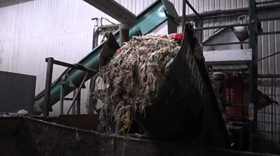 Food waste at Cassington anaerobic digestion plant