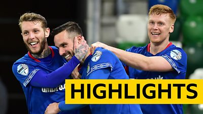 Linfield players celebrate