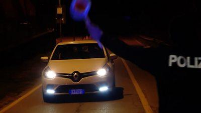 Italian policeman stops car