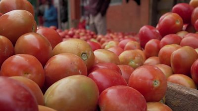 The price of tomatoes have skyrocketed in East Africa in recent weeks after floods have ruined crops.