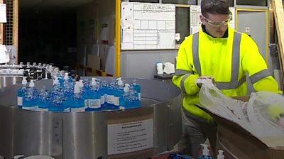 Hand gel factory
