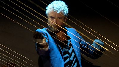 William Close playing the Earth Harp