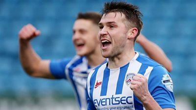 Stephen Lowry celebrates