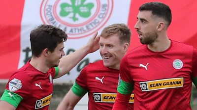 Cliftonville players celebrate