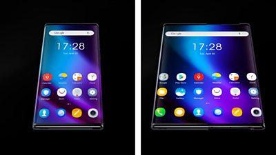 An extending smartphone