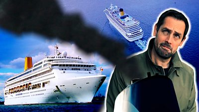 BBC reporter Ben Moore investigates the impact of cruise ships in air pollution