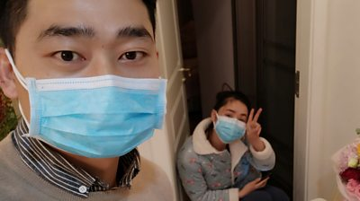 Filmmaker Cai Kaihai and nurse wife Li Ting celebrate wedding anniversary while in quarantine.