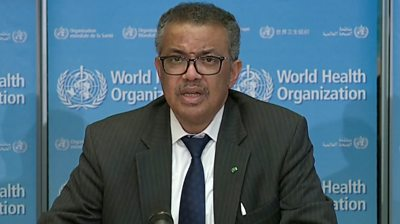 WHO Director General Dr Tedros Adhanom Ghebreyesus