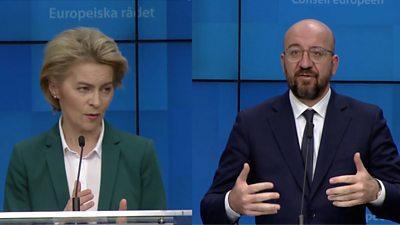 EU Presidents Ursula von der Leyen and Charles Michel
