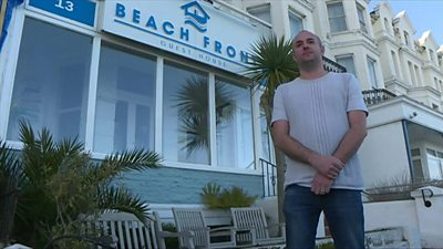 Eastbourne guest house owner Kristian Hayter