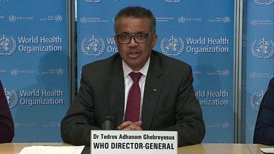 WHO head Dr Tedros Adhanom Ghebreyesus