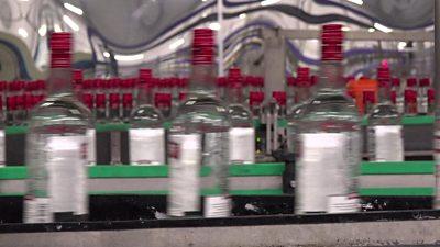 bottles being filled