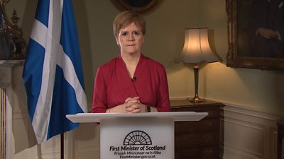 """The first minister is now asking for """"restaurants, cafes, pubs, gyms and cinemas to close""""."""