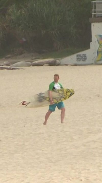 Bondi beach goer