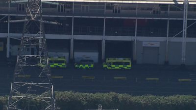 Ambulances outside ExCel Centre