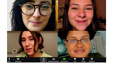 Celebrating a birthday party by video chat