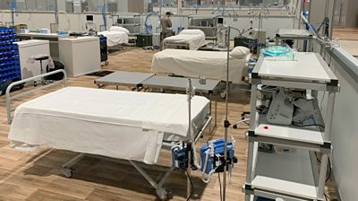 Field hospital in Madrid conference centre