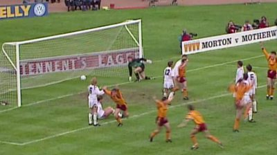 The late Phil O'Donnell scores his first Motherwell goal in the 1991 Scottish Cup final